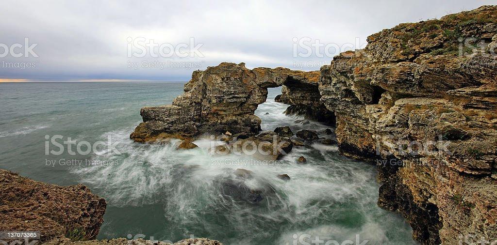 Rocky seashore stock photo
