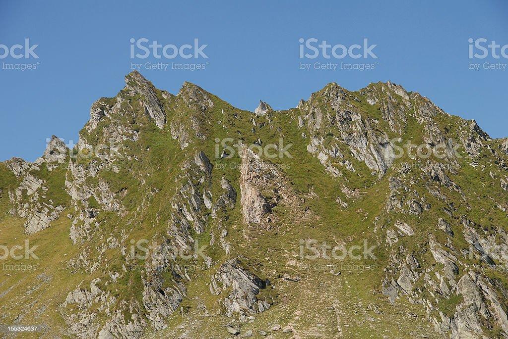 Rocky sharp mountains royalty-free stock photo