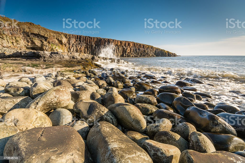 Rocky shore at Cullernose Point stock photo