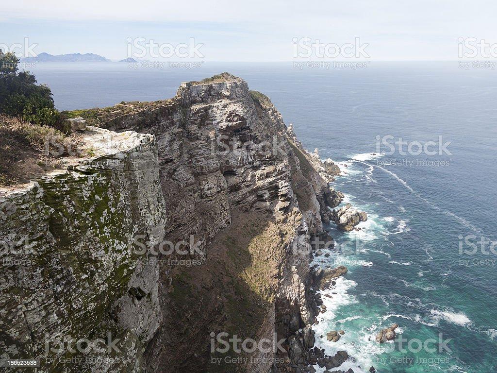 Rocky shoreline Cape Point stock photo