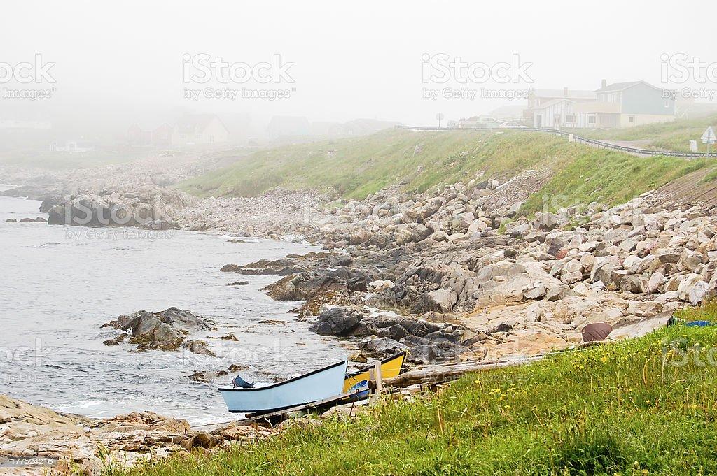Rocky St Pierre coastline stock photo
