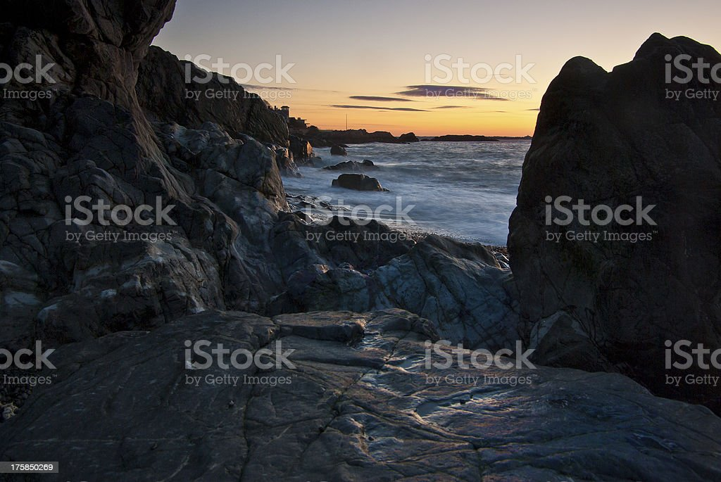 Rocky Sunrise stock photo