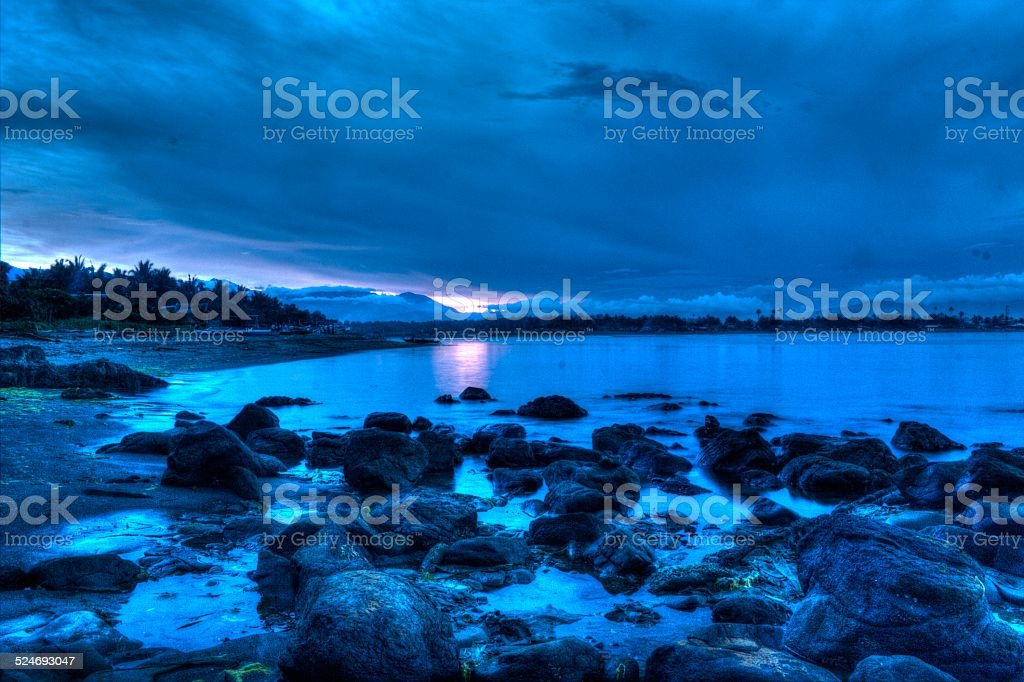 Rocky sunset stock photo