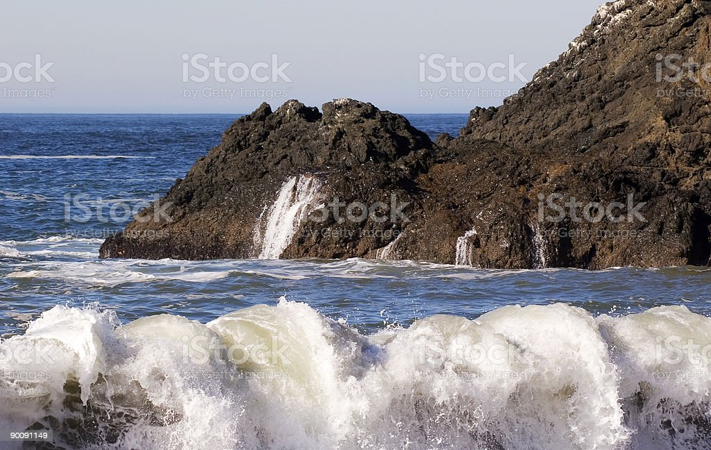 Rocky Surf royalty-free stock photo