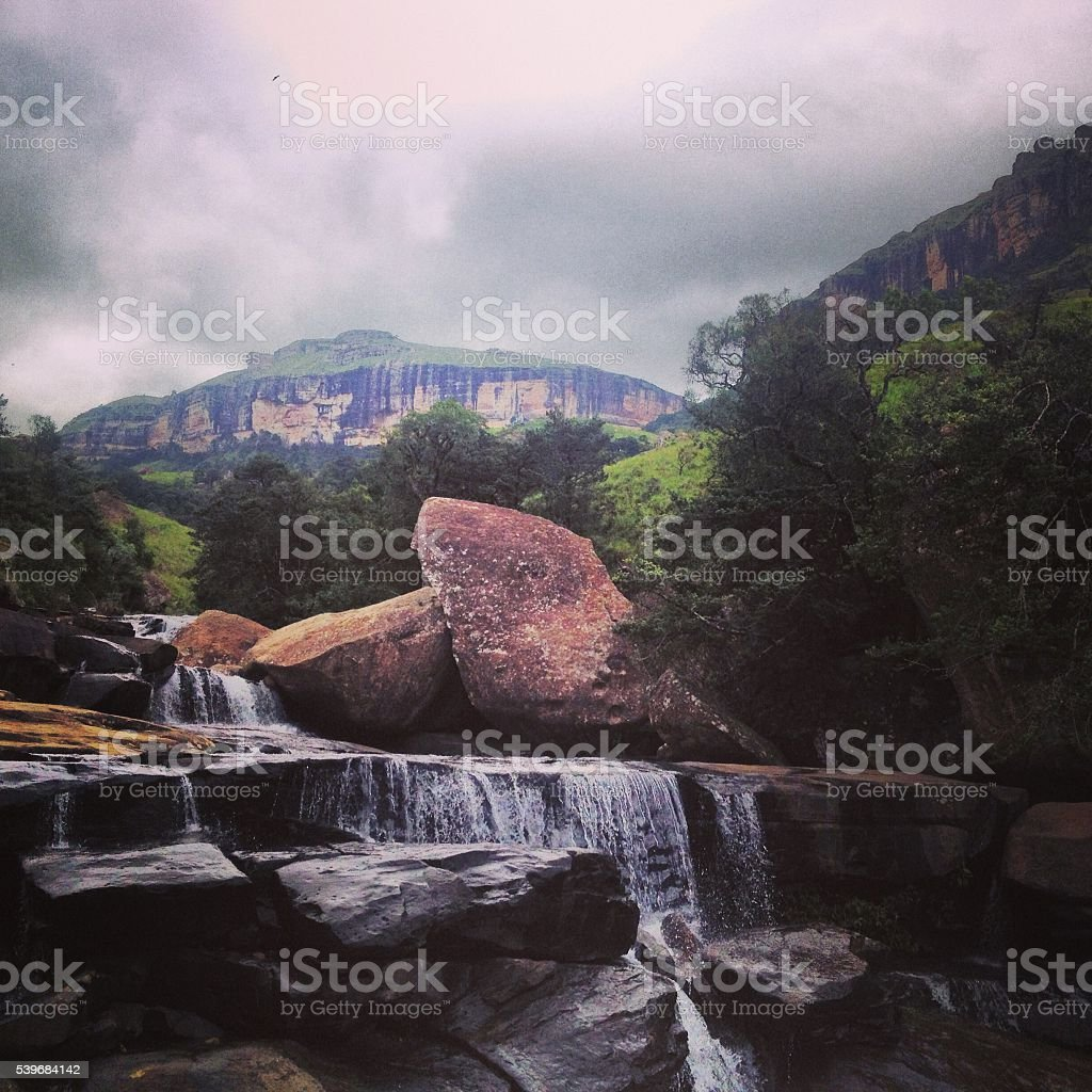 Rocky watefall stock photo