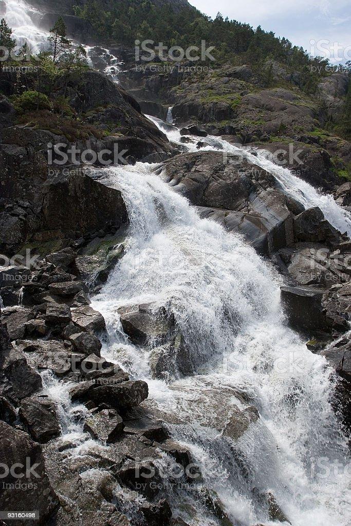 Rocky Waterfall royalty-free stock photo