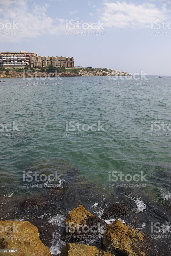 Rocky waters royalty-free stock photo