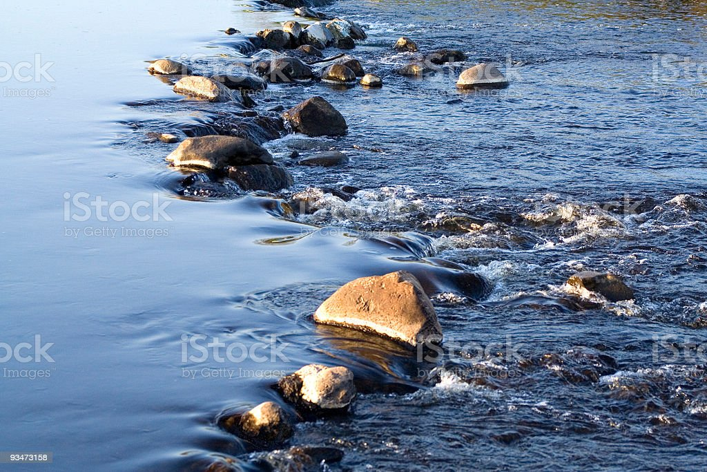 Rocky weir royalty-free stock photo