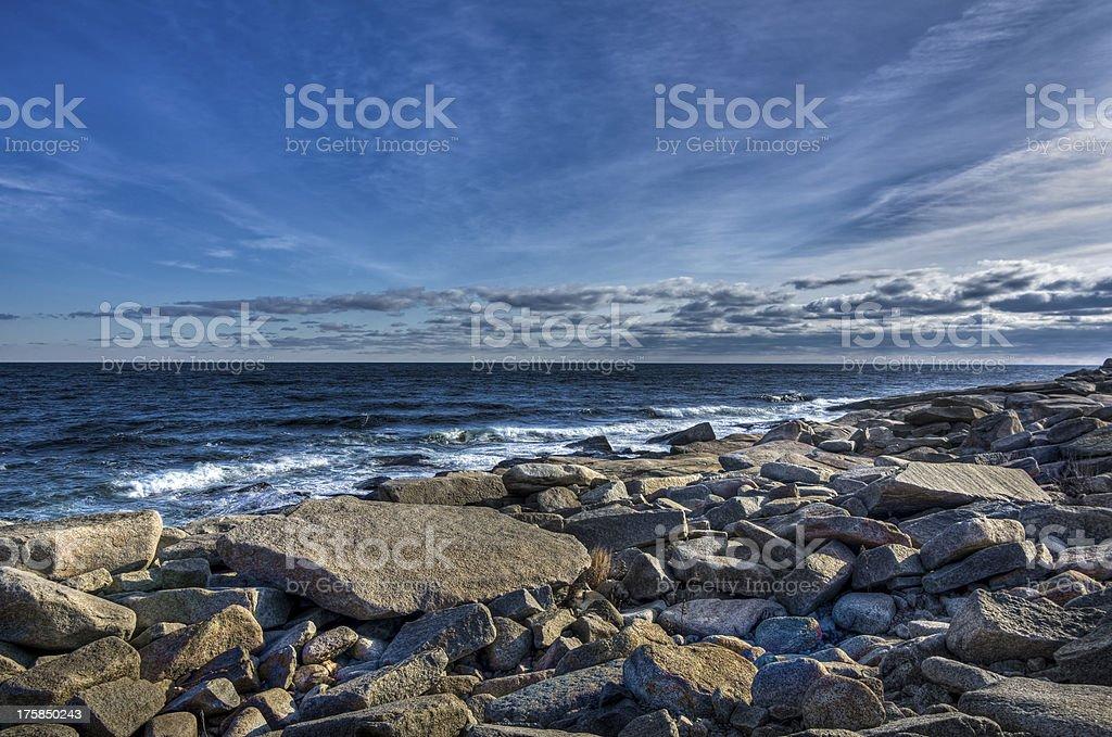 Rocky Winter Coast stock photo