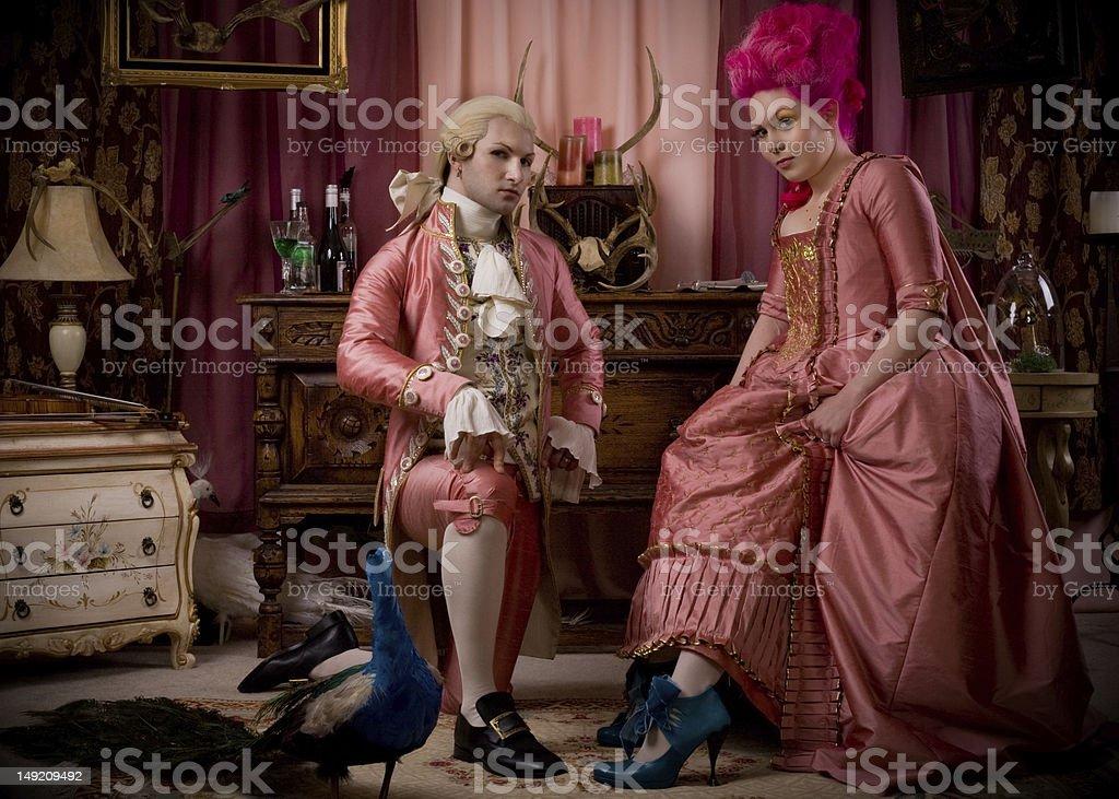 Rococo parlor royalty-free stock photo