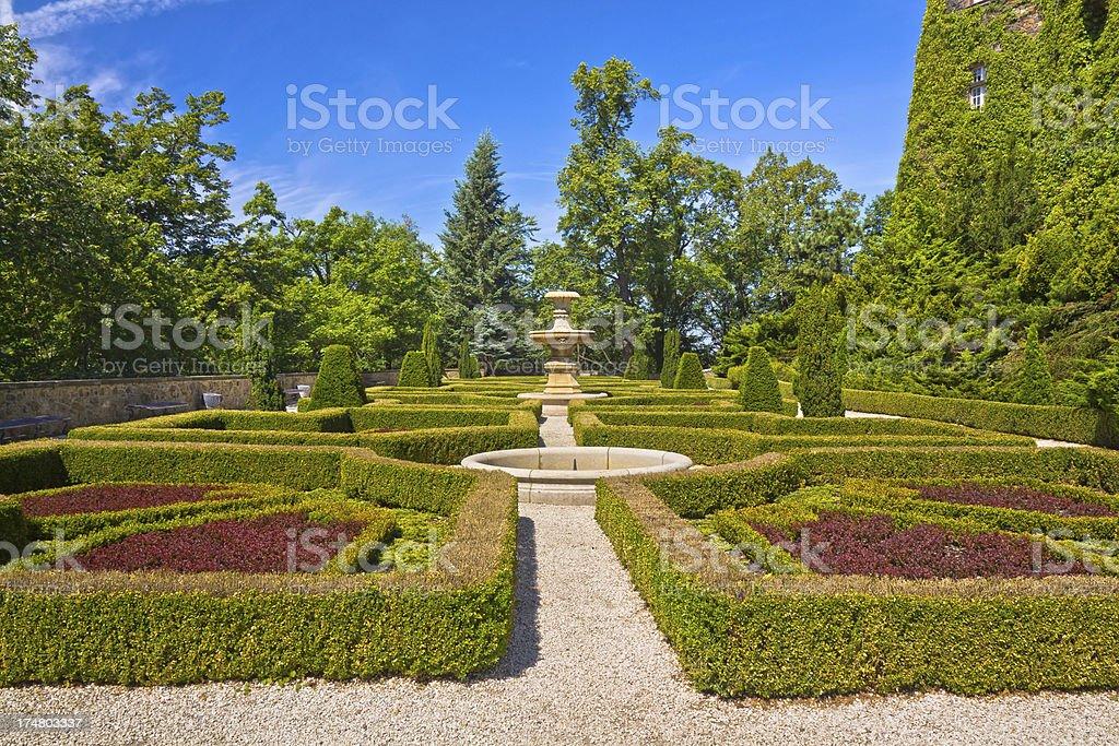 Rococo Style Park royalty-free stock photo