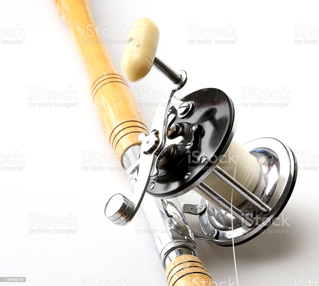 Rod and Reel stock photo