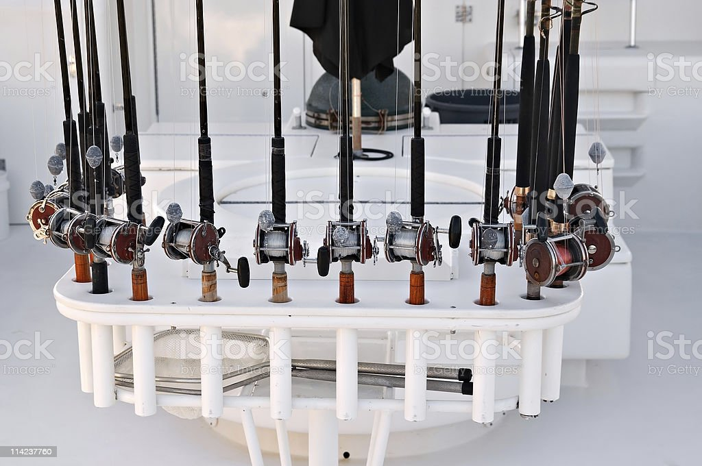Rod and Reels royalty-free stock photo