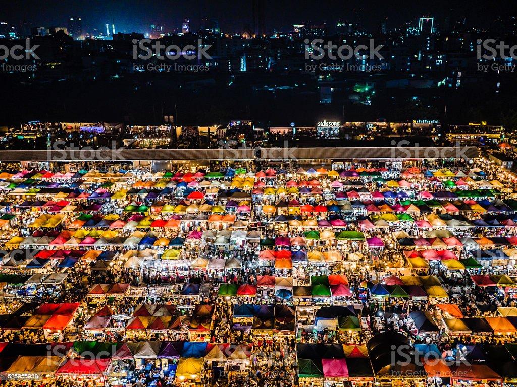 Rod Fai Market Bangkok Thailand stock photo