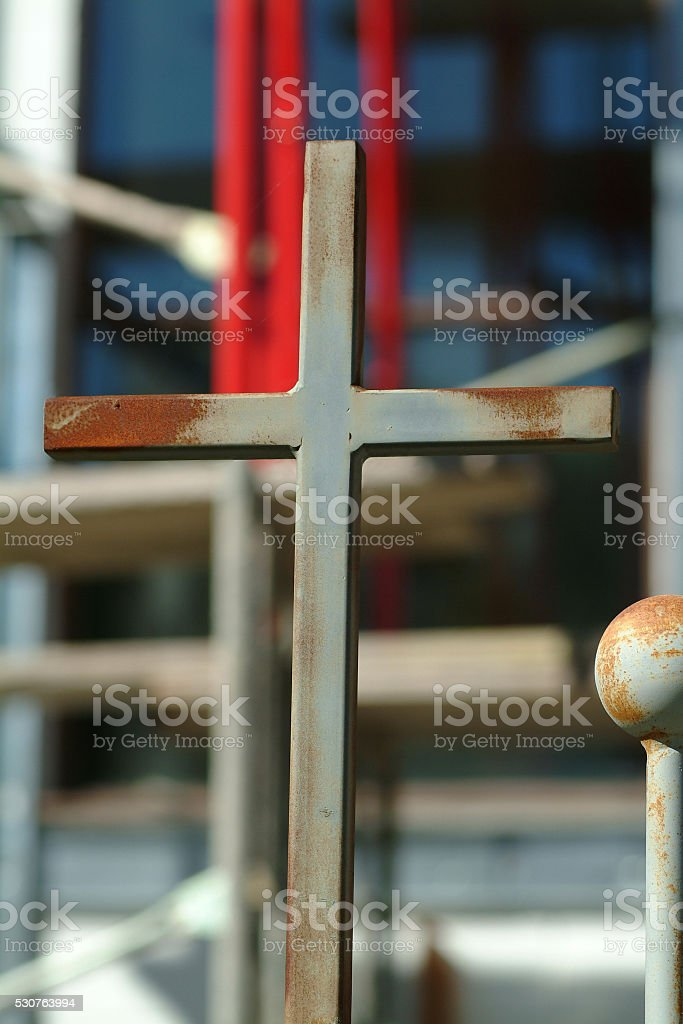Rod Iron Cross stock photo