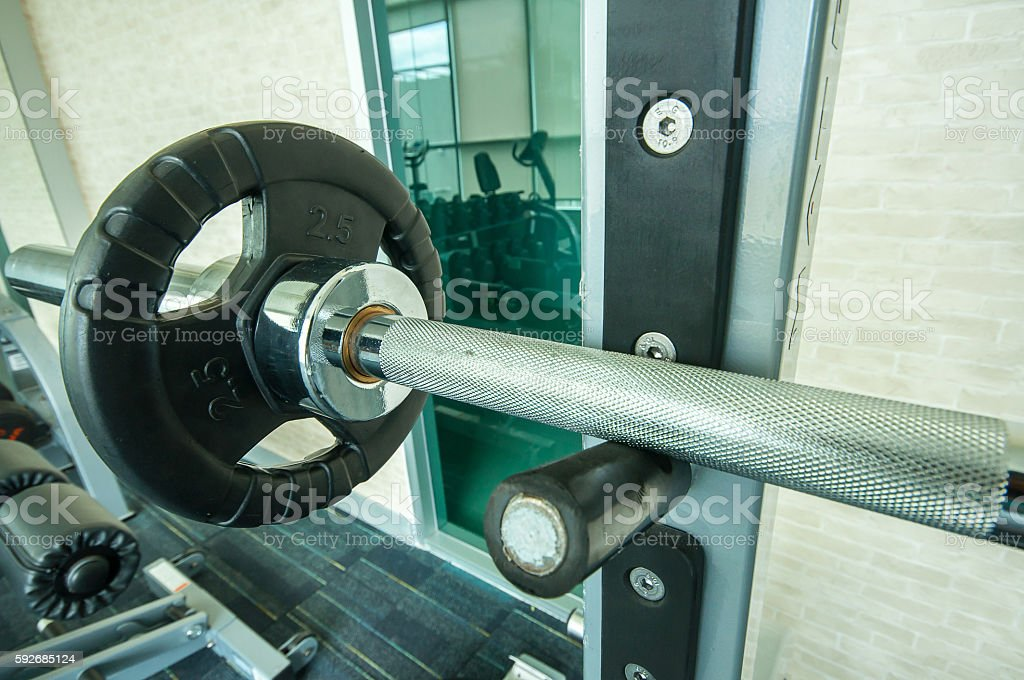 Rod trainer in fitness room stock photo