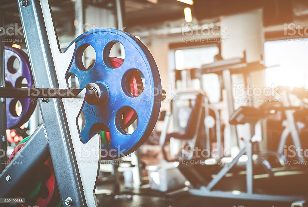 Rod with weights stock photo