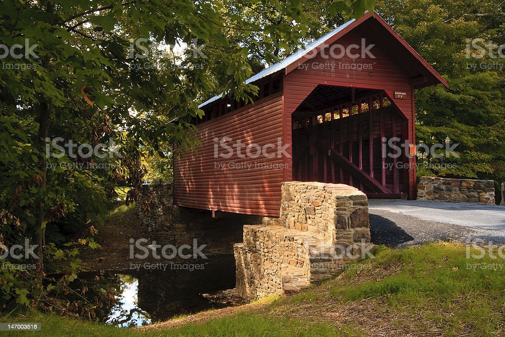Roddy Road Covered Bridge royalty-free stock photo