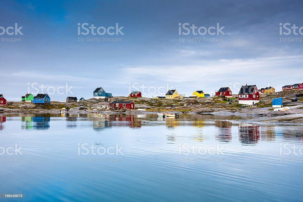 Rodebay Oqaatsut Settlement, Greenland stock photo