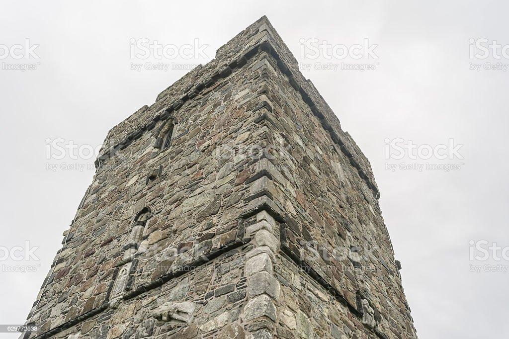 Rodel Church (St Clements) Isle of Harris, Scotland stock photo