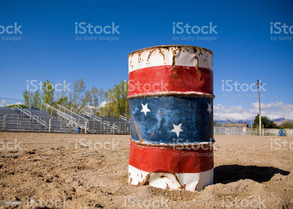 Rodeo Barrel stock photo