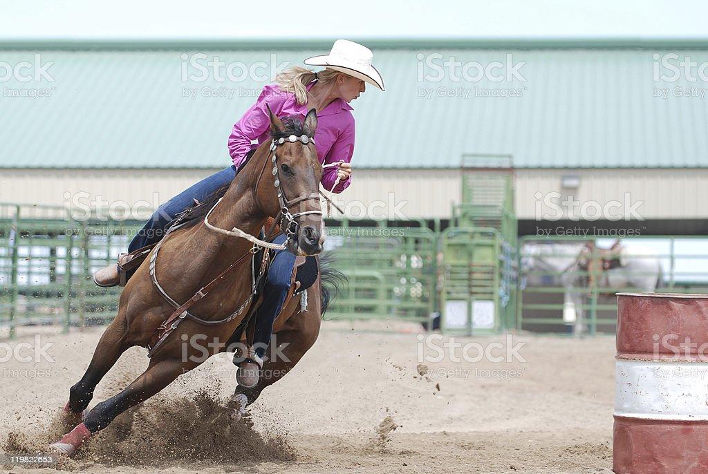 Rodeo Barrel Racer stock photo