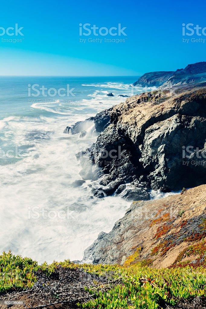 Rodeo Beach Overlook, San Francisco, USA stock photo