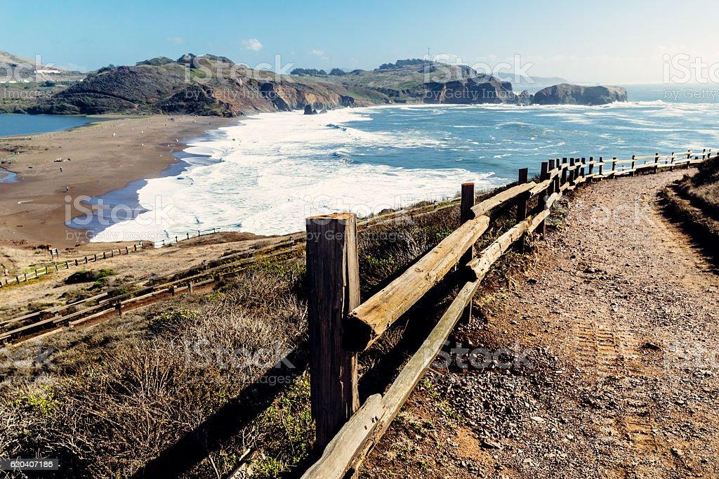 Rodeo Beach, San Francisco, USA stock photo