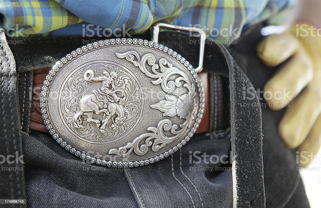 Rodeo buckle stock photo