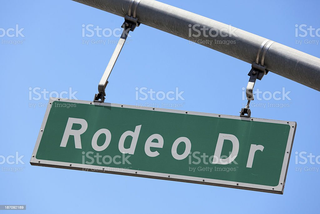 Rodeo Drive Beverly Hills California Sign royalty-free stock photo