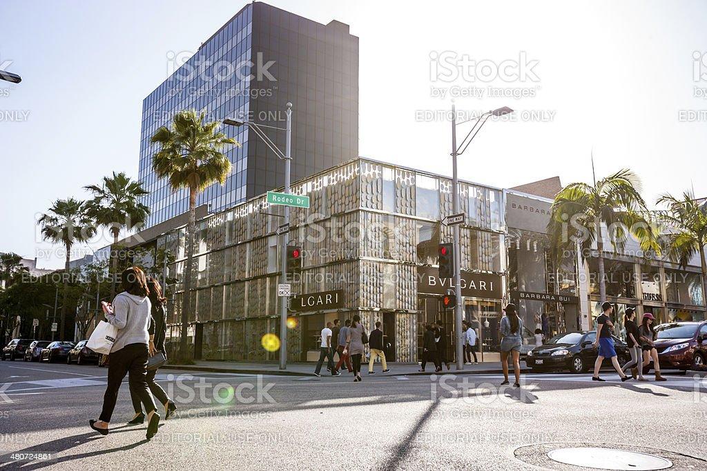Rodeo Drive, Beverly Hills, California, USA stock photo