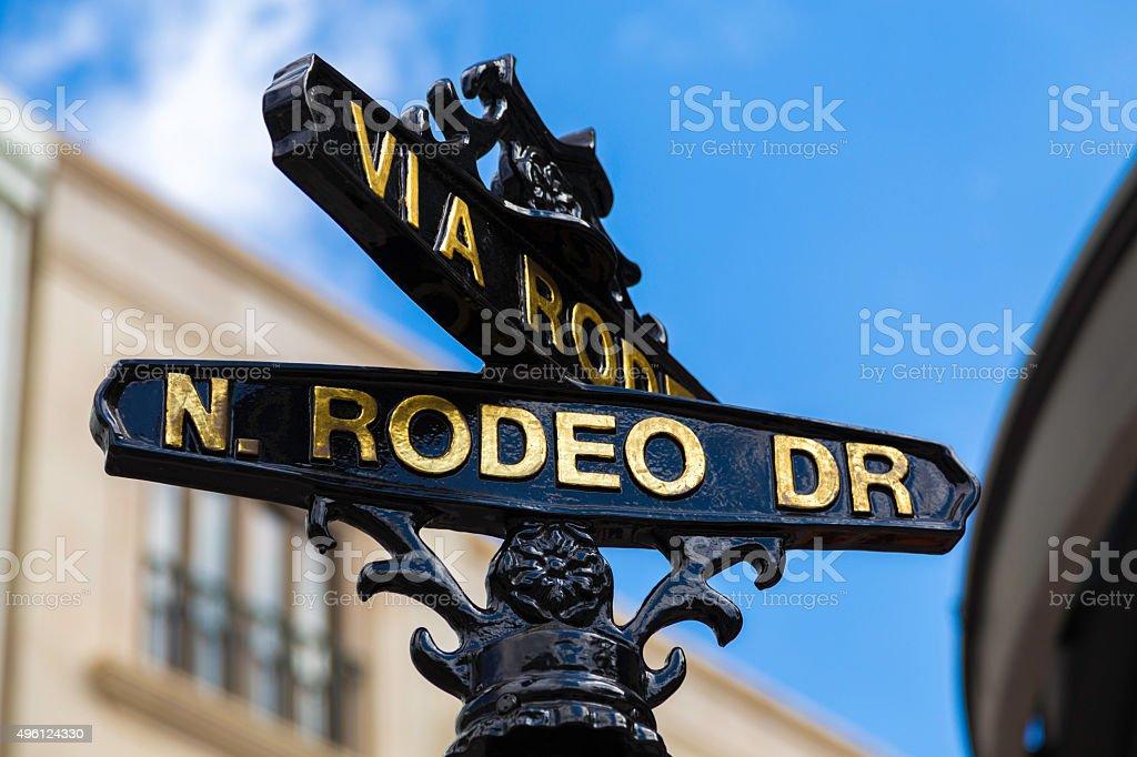 Rodeo Drive, Beverly Hills - California , USA stock photo