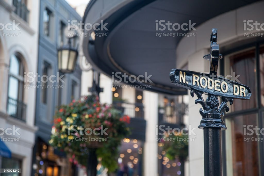 Rodeo Drive Beverly Hills Los Angeles California stock photo