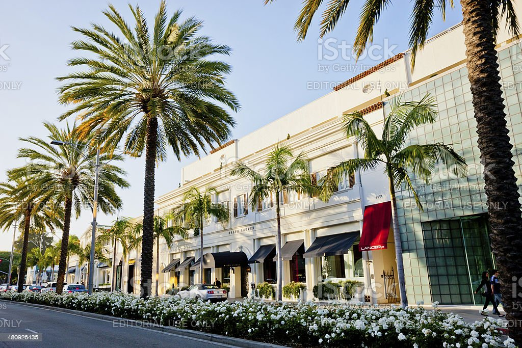 Rodeo Drive, Beverly Hills stock photo