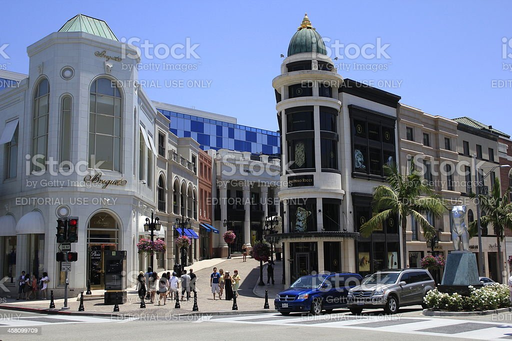 'Rodeo Drive in Beverly Hills, CA' stock photo