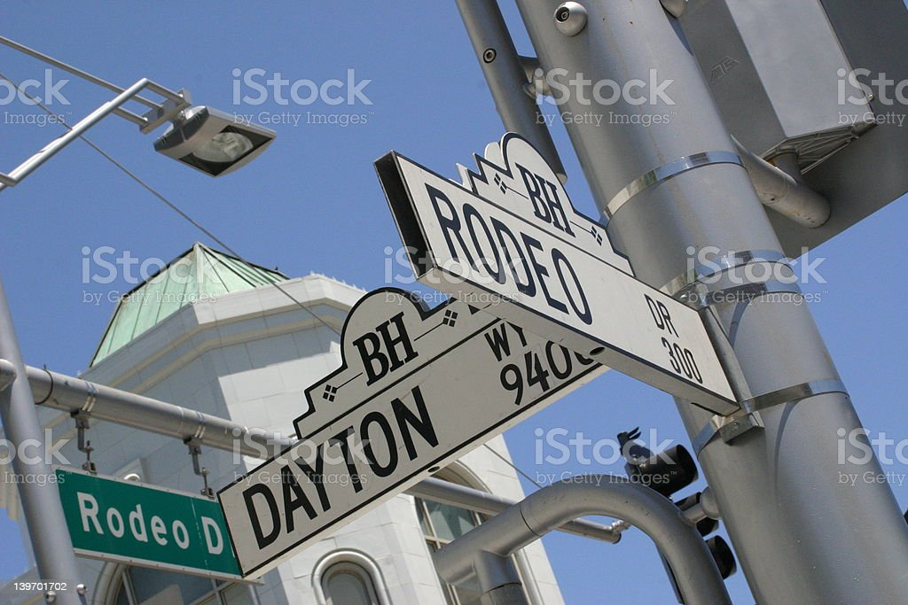 Rodeo Drive Sign stock photo