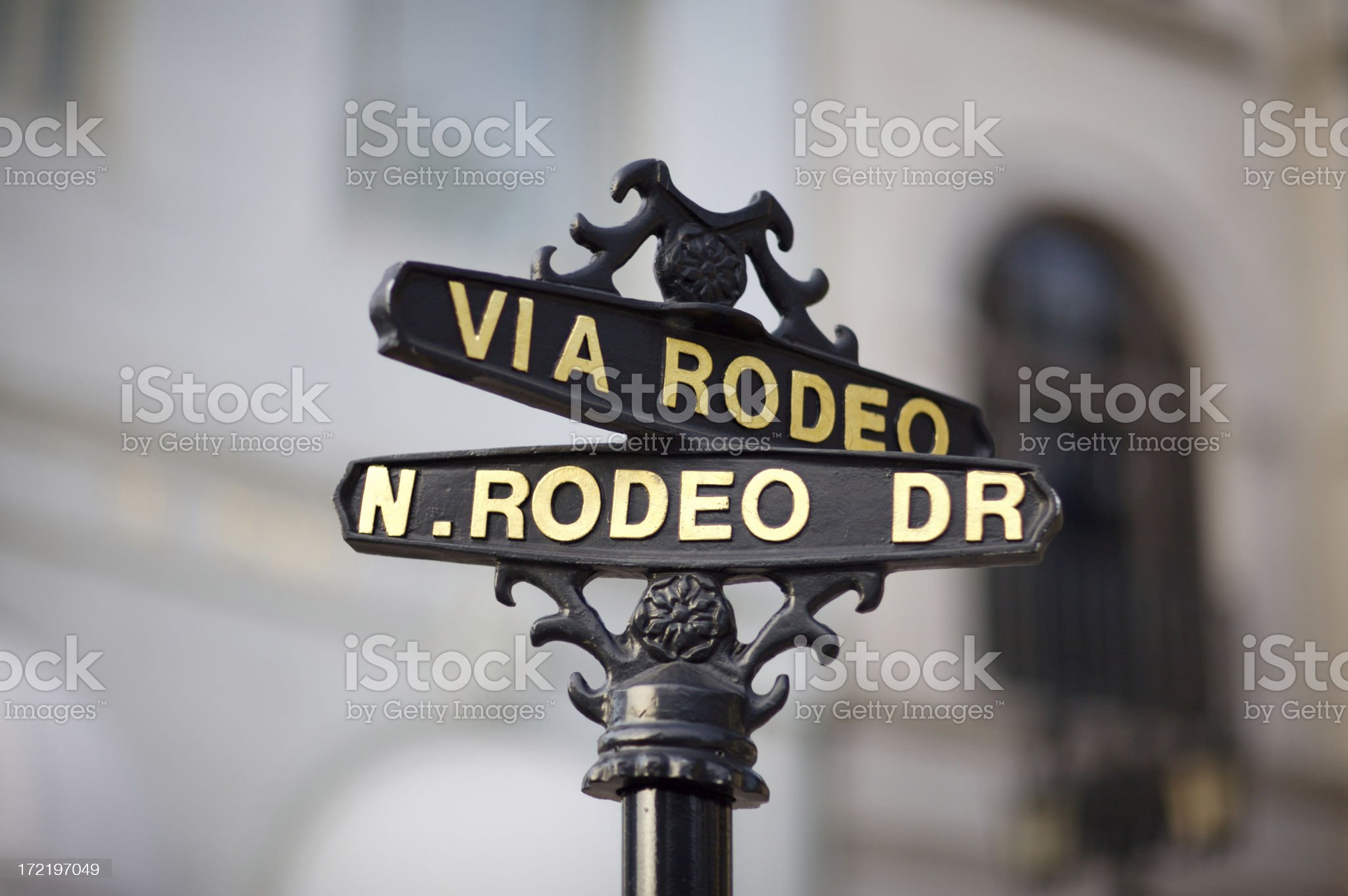 Rodeo Drive Street Sign royalty-free stock photo