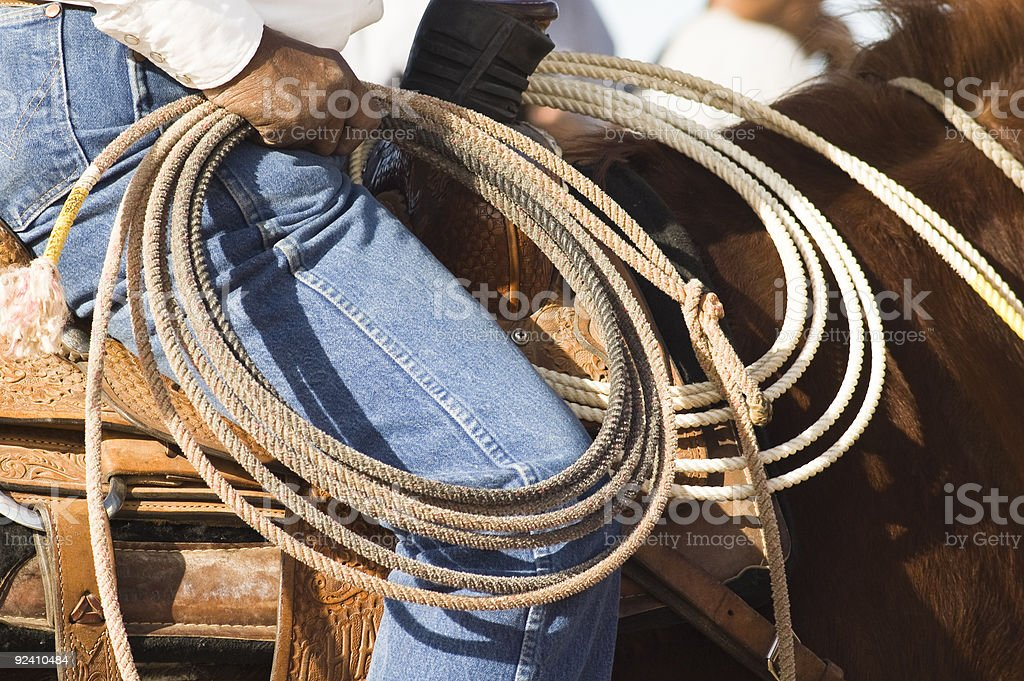 Rodeo Roper royalty-free stock photo