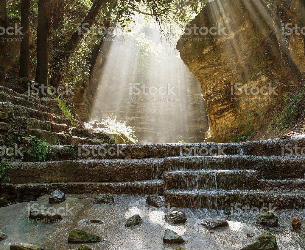 Rodini Park, Rhodes Island stock photo