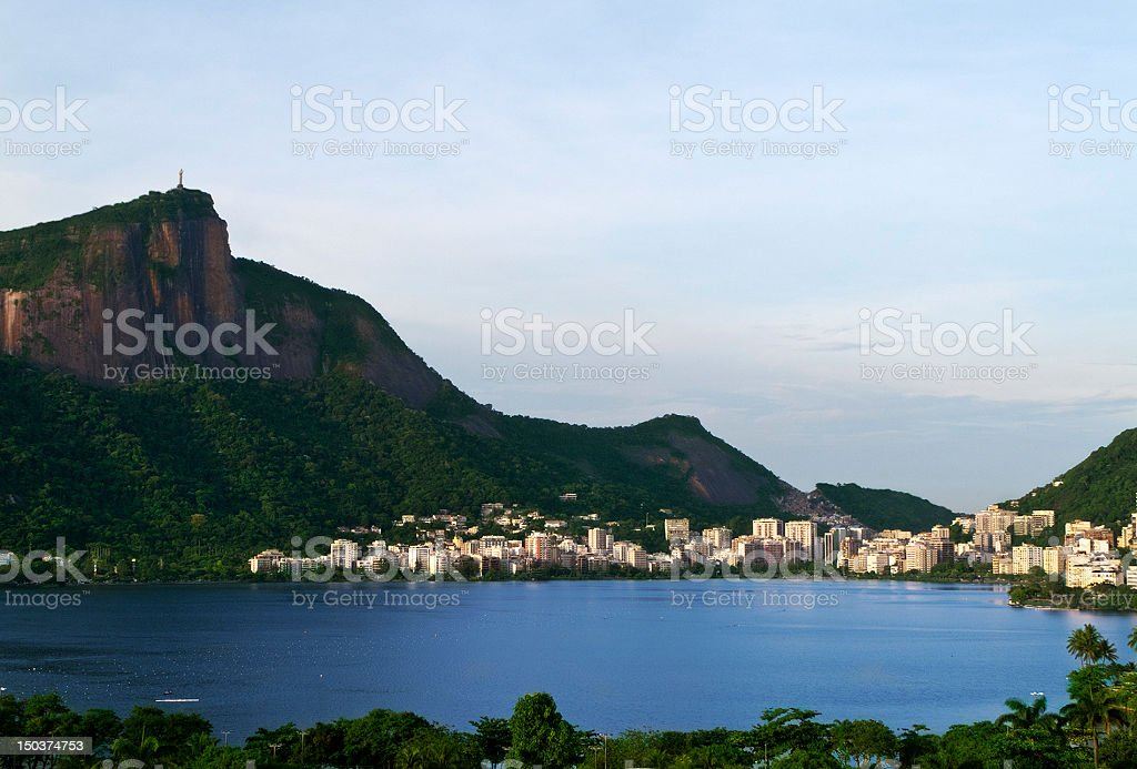 Lagoa Rodrigo de Freitas in Rio royalty-free stock photo