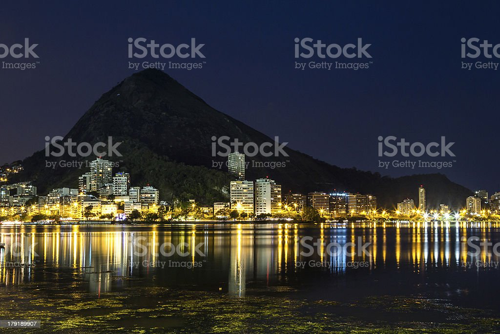 Lagoa Rodrigo de Freitas royalty-free stock photo