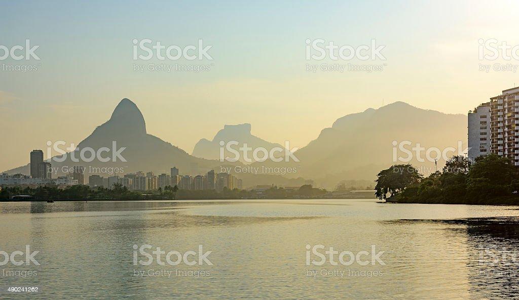 Rodrigo de Freitas Lagoon stock photo