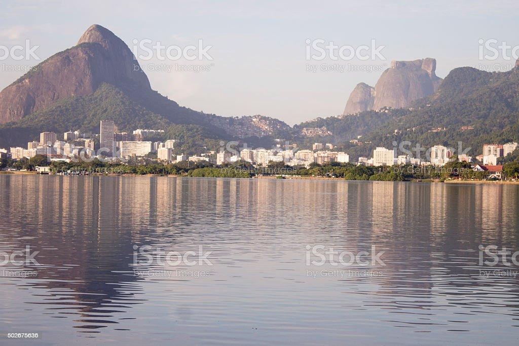 Rodrigo de Freitas Lake, Rio de Janeiro stock photo