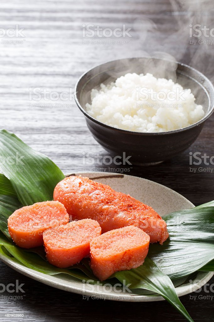 Roe and rice stock photo