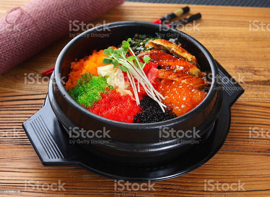 roe rice stock photo