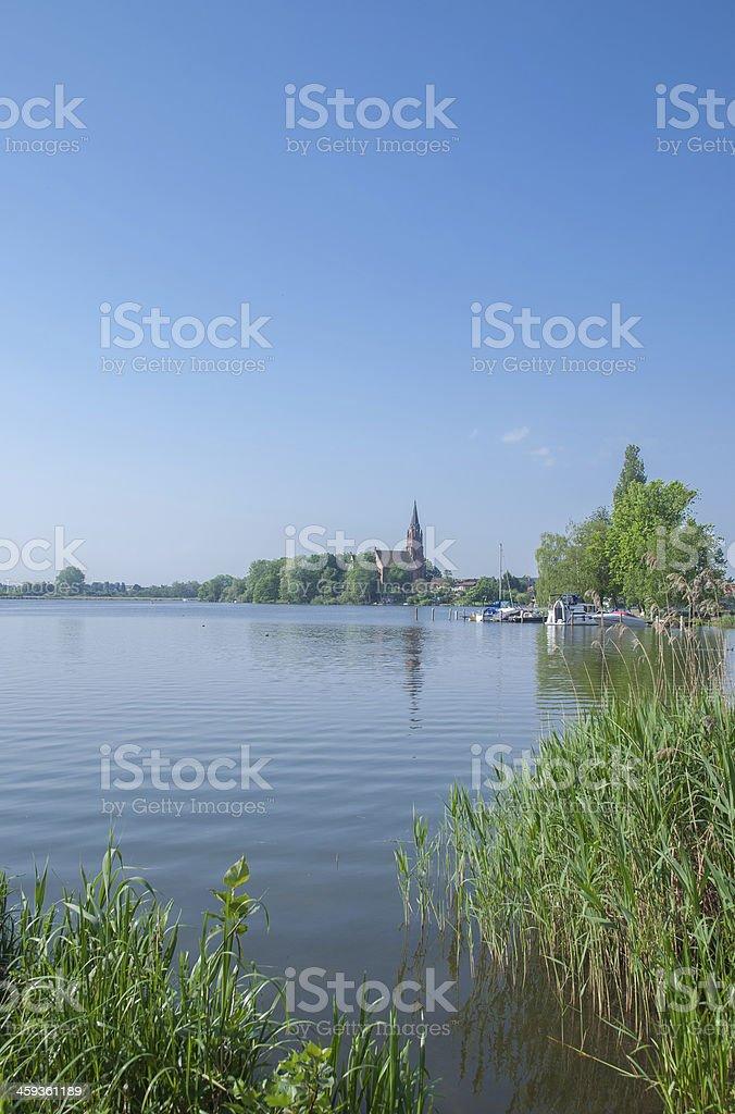 Roebel,Lake Mueritz,Germany stock photo