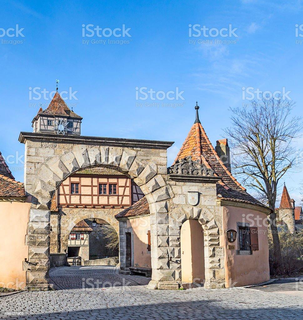Roeder gate in Rothenburg ob der tauber stock photo