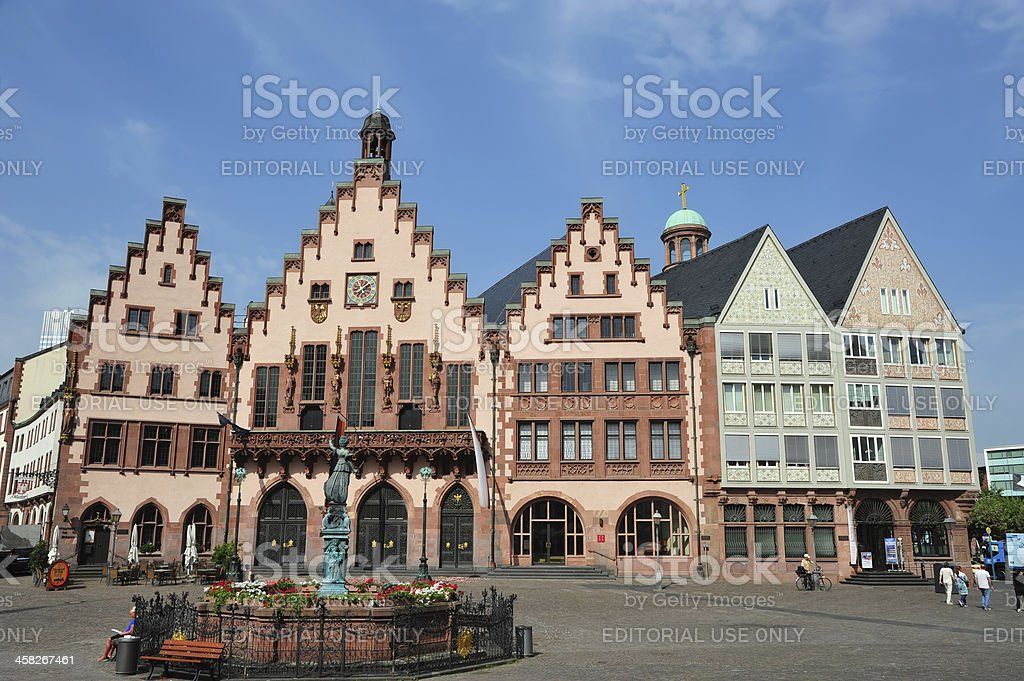 Roemer Square in Frankfurt, Germany stock photo