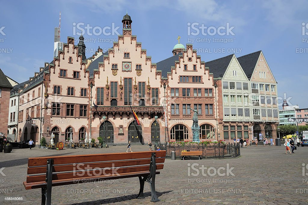 Roemer Square in Frankfurt, Germany royalty-free stock photo