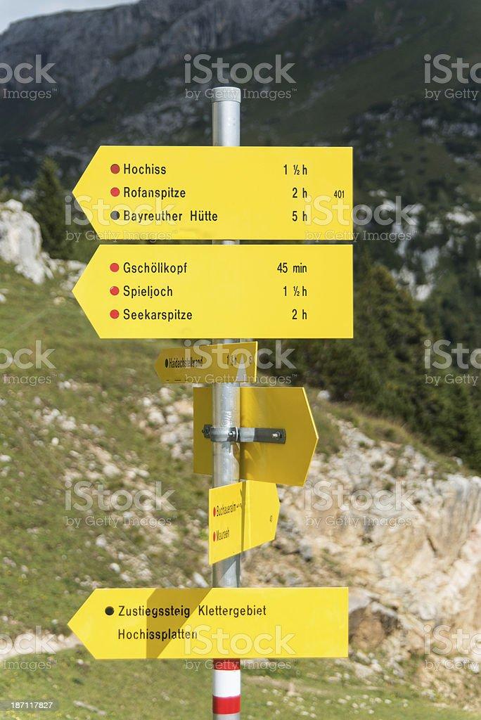 Rofan alps at Achensee in austria stock photo